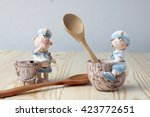 Dolls Of Sailor With Wood Spoo...