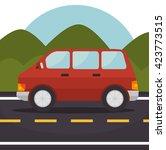 classic cars design  | Shutterstock .eps vector #423773515