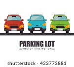 parking lot design  | Shutterstock .eps vector #423773881