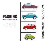 parking lot design  | Shutterstock .eps vector #423773995