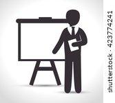 training business design  | Shutterstock .eps vector #423774241