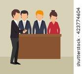 training business design  | Shutterstock .eps vector #423774604