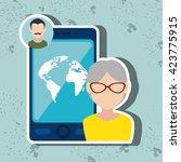 social media design  | Shutterstock .eps vector #423775915