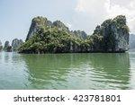 green limestone karsts | Shutterstock . vector #423781801