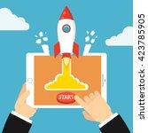 successful startup business... | Shutterstock .eps vector #423785905