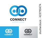 people connect logo template | Shutterstock .eps vector #423790474