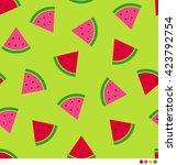 watermelon vector pattern... | Shutterstock .eps vector #423792754