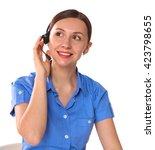 Portrait Of Woman Customer...