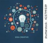 idea creative concept design on ... | Shutterstock .eps vector #423799339