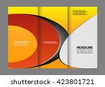 tri fold corporate business... | Shutterstock .eps vector #423801721