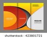 tri fold corporate business... | Shutterstock .eps vector #423801721