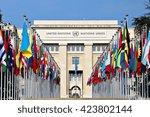 geneva  switzerland   12 march...   Shutterstock . vector #423802144