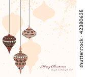 retro christmas elements  balls ... | Shutterstock .eps vector #42380638