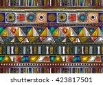 quilting  patchwork  embroidery ... | Shutterstock .eps vector #423817501