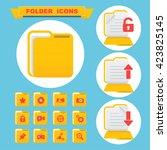 folder icons set. web and...