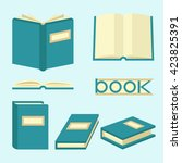 book signs and symbols.... | Shutterstock .eps vector #423825391