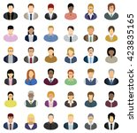 business people icons. set of... | Shutterstock .eps vector #423835165