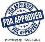 fda approved. stamp   Shutterstock .eps vector #423846031