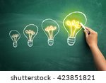 from small to big idea concept ... | Shutterstock . vector #423851821