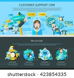 customer support one page...   Shutterstock .eps vector #423854335