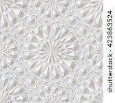 white surround ornamental... | Shutterstock . vector #423863524