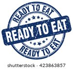 ready to eat. stamp | Shutterstock .eps vector #423863857