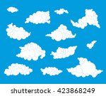 collection of hand  drawn... | Shutterstock .eps vector #423868249