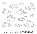 collection of hand  drawn... | Shutterstock .eps vector #423868261