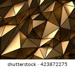 luxury gold abstract polygonal... | Shutterstock . vector #423872275