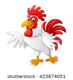 cartoon rooster presenting | Shutterstock .eps vector #423874051