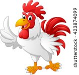 cartoon rooster giving thumb up | Shutterstock . vector #423874099