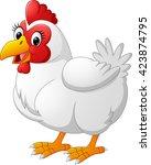 cartoon hen | Shutterstock . vector #423874795