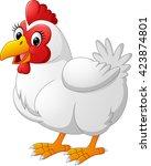 cartoon hen | Shutterstock .eps vector #423874801