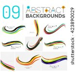 wave abstract background...   Shutterstock .eps vector #423890029