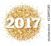 happy new year 2017 greeting... | Shutterstock .eps vector #423895285
