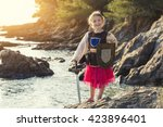 Girl Dressed As A Knight