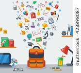 back to school education... | Shutterstock .eps vector #423898087
