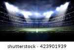 american stadium night  | Shutterstock . vector #423901939