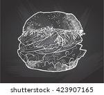 illustration of a burger . hand ... | Shutterstock .eps vector #423907165