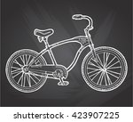 bicycle vector. vintage bike...