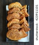 japanese traditional sweet fish ... | Shutterstock . vector #423911101