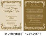 wedding invitation card... | Shutterstock .eps vector #423914644