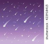 falling stars. celestial... | Shutterstock .eps vector #423918415
