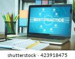 best practice chart with...   Shutterstock . vector #423918475