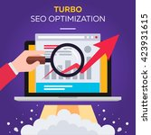 turbo seo optimization | Shutterstock .eps vector #423931615