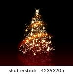 glowing christmas tree with a... | Shutterstock . vector #42393205
