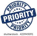 priority. stamp | Shutterstock .eps vector #423945091