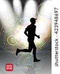 sport background  marathon... | Shutterstock .eps vector #423948697