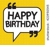 happy birthday illustration... | Shutterstock .eps vector #423950545