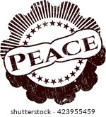 peace grunge stamp | Shutterstock .eps vector #423955459